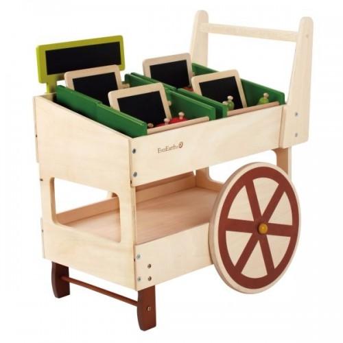 Bio Obst- und Gemüsewagen - Öko Holzspielzeug | EverEarth®