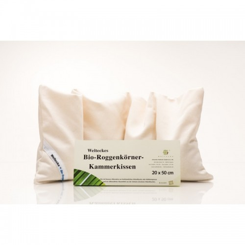 Bio-Roggen-Kissen Weltecke 20x50 cm