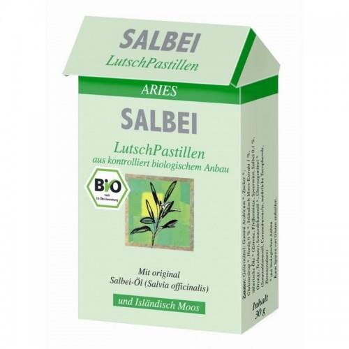 Bio Salbei Lutschpastillen aus Bio-Anbau