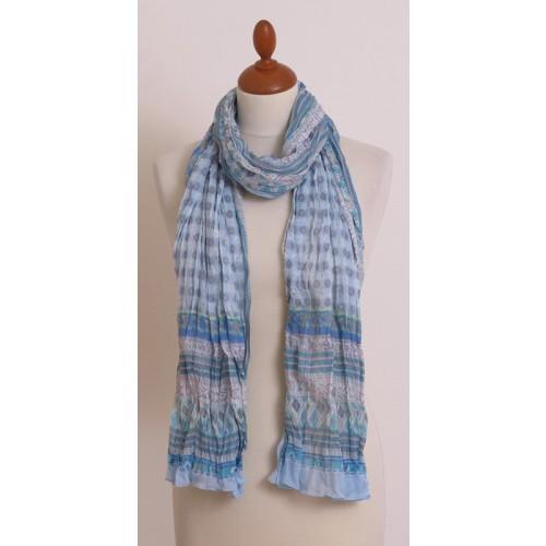 Damen Schal Hellblau aus Bio Baumwolle | billbillundbill