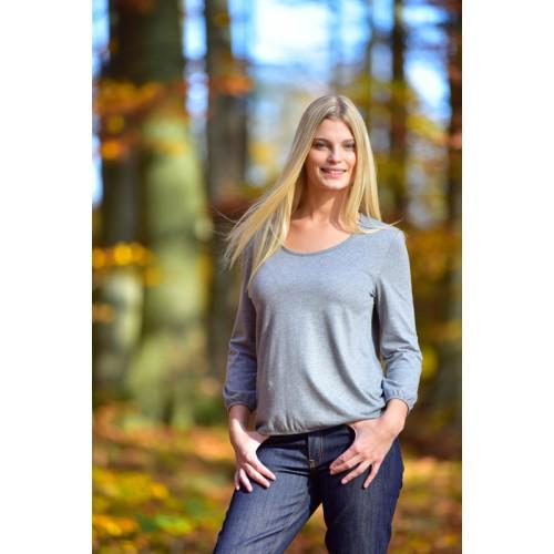Blusenshirt – Bio Jersey Langarmshirt | billbillundbill