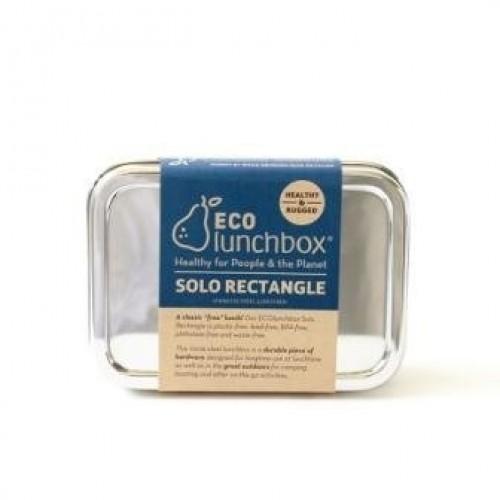 ECOlunchbox Edelstahl Brotdose rechteckig mit Deckel