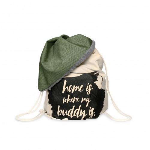 BUDDY Büggel grün, Hundedecke & Rucksack für unterwegs