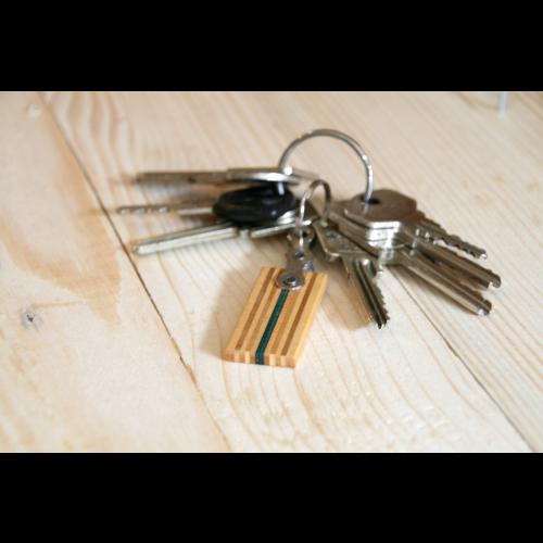 Schlüsselanhänger aus Holz & Fahrradkette | Restwert Upcycling