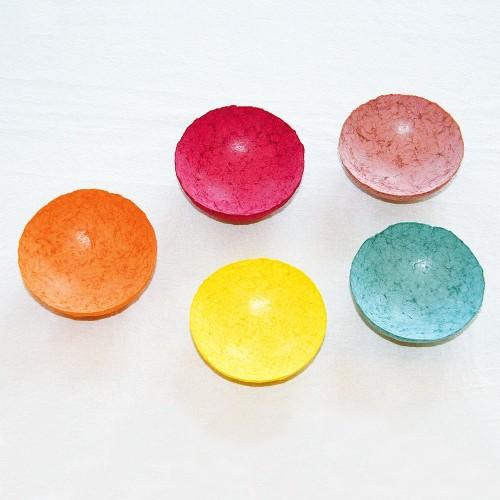 Mini Dekoschale handgeschöpftes Papier, viele Farben » Sundara