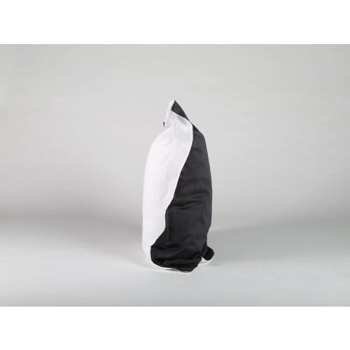 Kissenbezug Baumwollsatin Dark Anthracite/Pure White