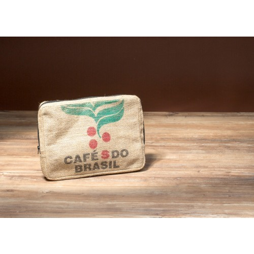 "Laptop Sleeve 13"" aus Kaffeesack"