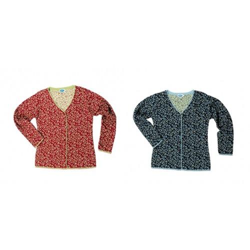 Reiff gemusterte Damen Strickjacke EMELY - Bio-Baumwolle