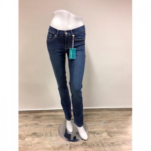 Gerade Damen Bio Jeans mit Dehnbund Jeansblau | bloomers