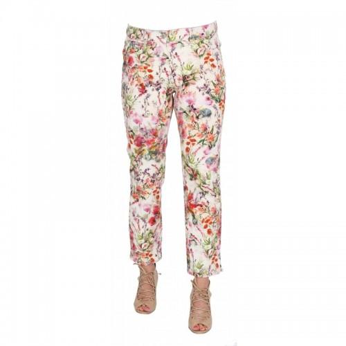 bloomers Knöchellange Damen Bio Hose mit Blumenprint