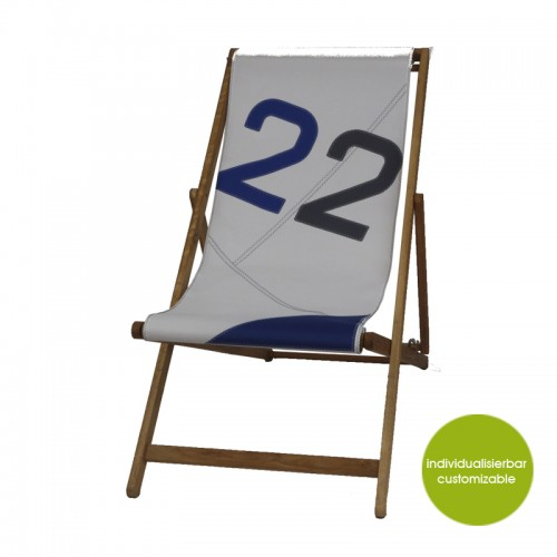 Weiß-Blau Deckchair Transatlantic 22 | Marron Rouge