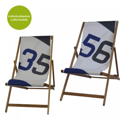 Transatlantic Deckchair aus Recycling Segel | Marron Rouge