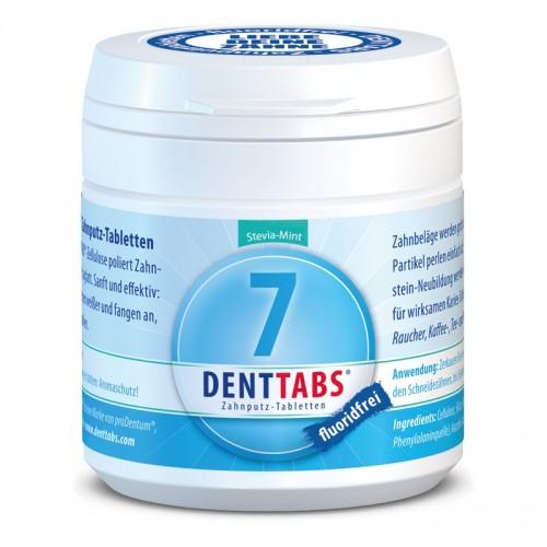 DENTTABS ohne Fluorid für tägliche Zahnpflege