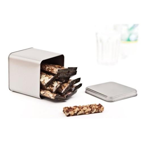 Lebensmitteldose Würfel - Quadratische Blechdose | Tindobo