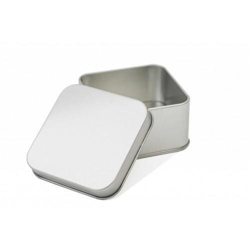 Quadratische Blechdose 70x70x40 mm für Geschenke | Tindobo