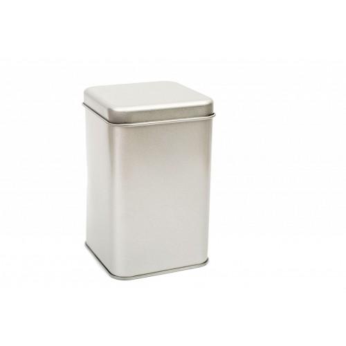 Teedose aus Weißblech - Quadratische Blechdose | Tindobo