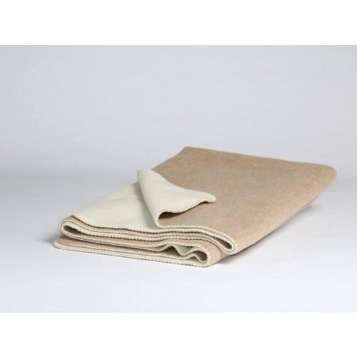 Wolldecke Light Brown/White