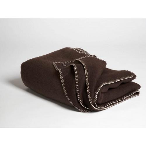 Yakwolle Decke Dark Brown