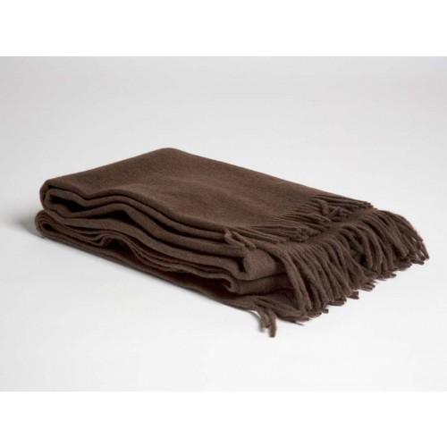 Yakwolle Plaid Dark Brown