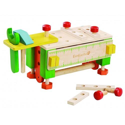 Werkzeugkasten / Werkbank aus FSC® Holz | EverEarth