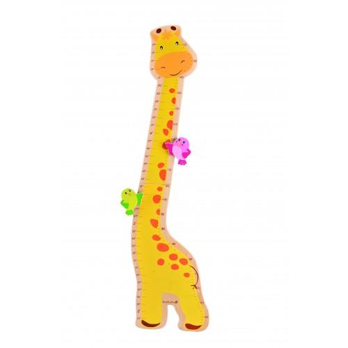 Messlatte Giraffe aus FSC® Holz für Kinder | EverEarth