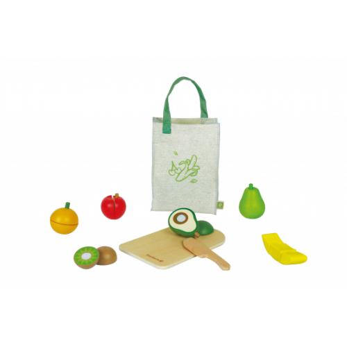 EverEarth Obst Set aus FSC Holz - Öko Holzspielzeug