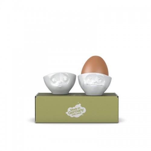 Eierbecher Set Nr. 3 glücklich & hmpff