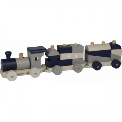 EverEarth Eisenbahn aus FSC Holz, pastell Sortierspielzeug