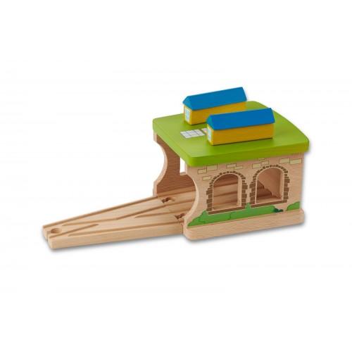 EverEarth Eisenbahnschuppen aus FSC® Holz