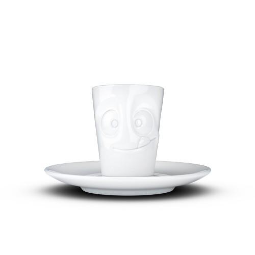Porzellan Espresso Mug mit Henkel - Lecker | 58Products