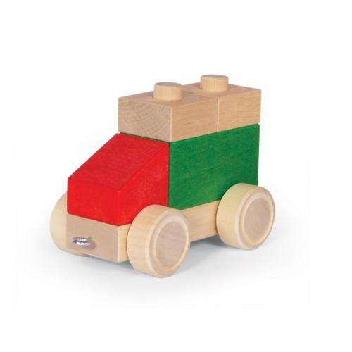VARIS Fahrzeug aus Steckklötzen, Set Nr. 4  aus Öko Holz