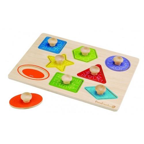 EverEarth Formen- und Farbenpuzzle aus FSC Holz