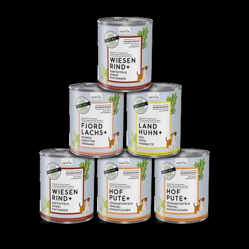 naftie Fleischmenüs für Hunde Mischpaket 6x800g