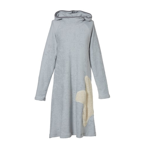 Bio Frottee Kapuzenkleid - Hoodie Dress Grau | early fish