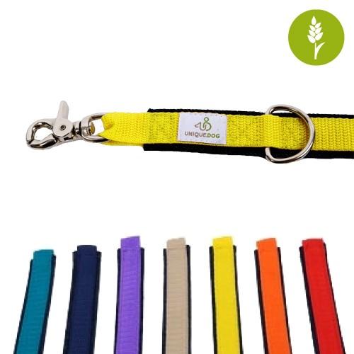 Hunde-Führleine aus Bio Jeans mit Scherenkarabinern