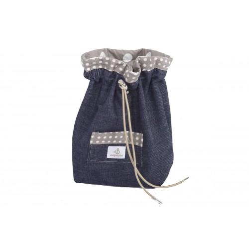 Leckerlibeutel aus Bio Jeans mit kleiner Tasche