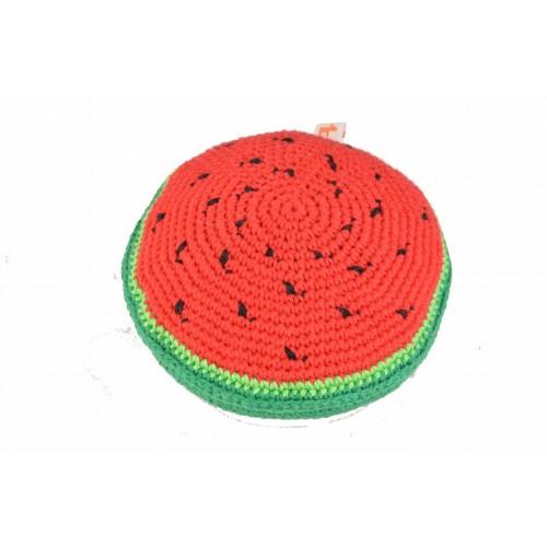 gehäkeltes Öko-Hundespielzeug Wassermelone schadstofffrei