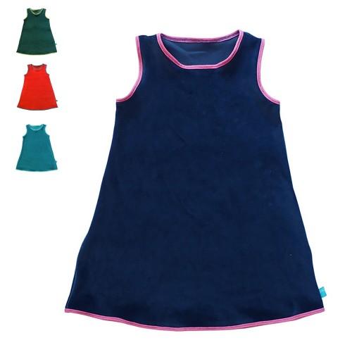 Gemütlichkeitskleid - ärmelloses Bio Nicki Kleid | bingabonga