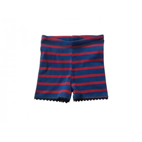 Rot-blau gestreifte unisex Bio Shorts für Kinder | Ulalü