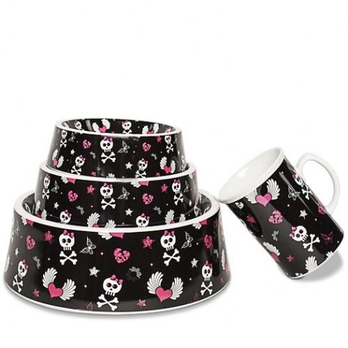 Hundenapf und Tasse aus Porzellan im frechen Design