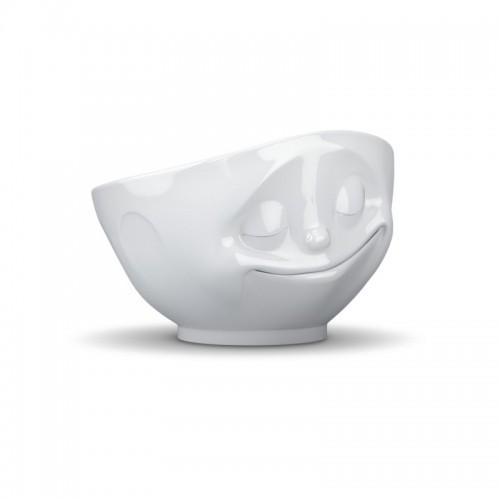 Porzellan Schale, glücklich, weiß