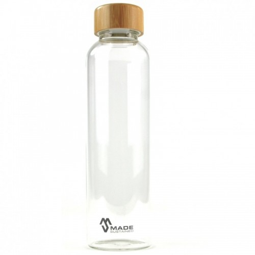 Glasflasche mit Bambusdeckel 550 ml | Made Sustained