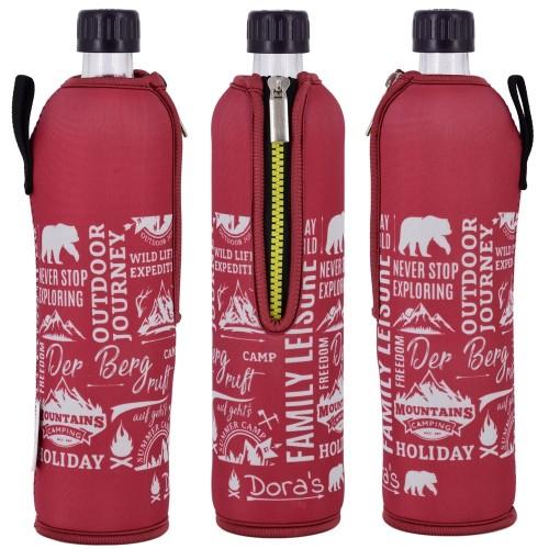 Der Berg ruft Dora's Glas Mehrwegflasche im Neoprenbezug