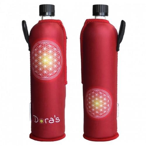Glasflasche Neoprenanzug Blume des Lebens | Dora