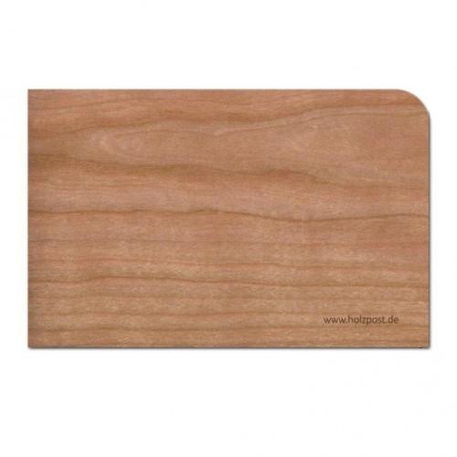"""Holzpost Grußkarte """"Blanko"""" aus Kirschholz inkl. Umschlag"""