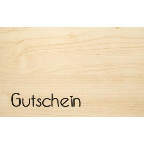Gutschein – Glückwunschkarte aus Öko Holz | Biodora