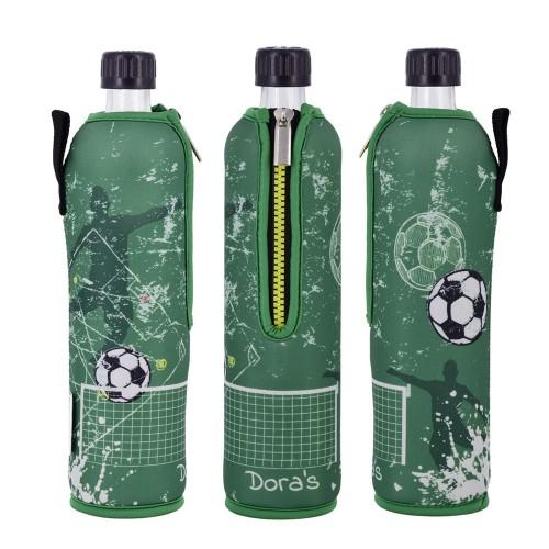 Fußball Mehrwegflasche im Neoprenbezug   Dora's