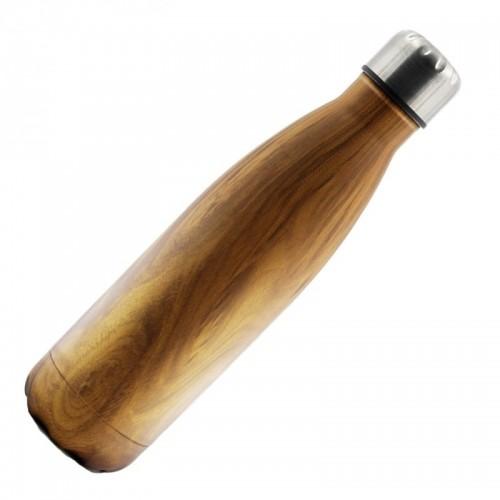 Holzdesign Edelstahlflasche - Dora's Thermosflasche
