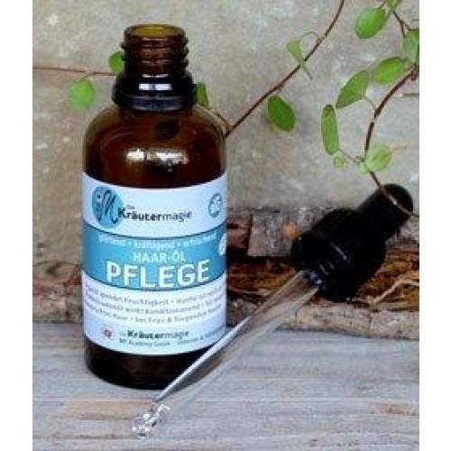 Veganes Haaröl PFLEGE für strapazierte Haare | Kräutermagie