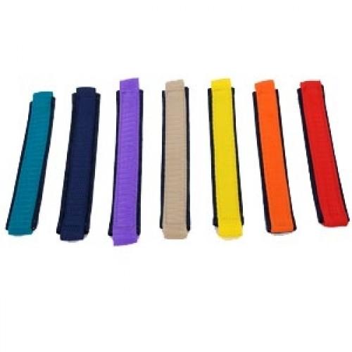 robustes Hundehalsband nach Maß aus Jeans und Gurtband 2,5cm